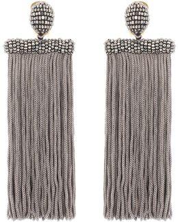 Clip-on Tassel Earrings