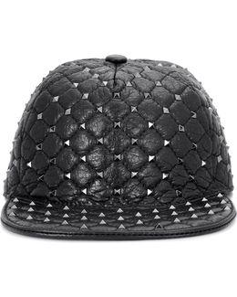 Garavani Rockstud Leather Hat