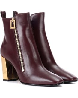 Polly Zip Leather Ankle Boots