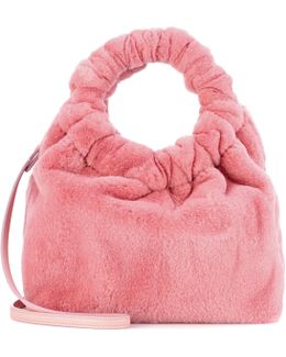 Double Circle Small Mink Fur Tote