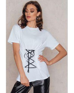 Lace Up Corset Front T-shirt