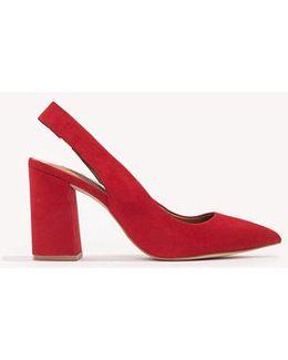 Women's Dove Slingback Block-heel Pumps