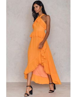 Ruffle Halterneck Dress