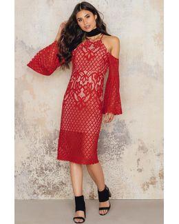Mila Lace Midi Dress