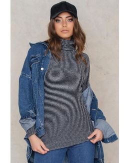 Lally Stripe Mock Neck