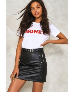 Date With The Night Vegan Leather Skirt Date With The Night Vegan Leather Skirt