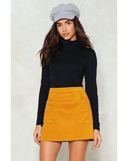 Strike A Corduroy High-waisted Skirt