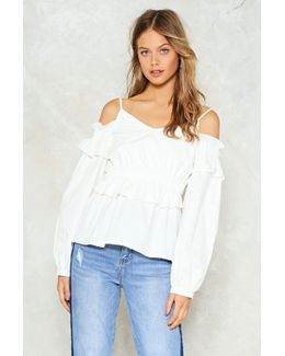 Down For It Cold Shoulder Top