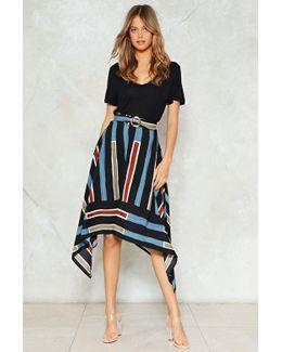 You're Stripe High-waisted Skirt You're Stripe High-waisted Skirt