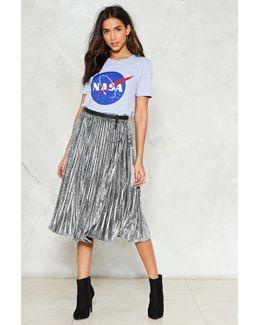 Metallic Pleat Midi Skirt Metallic Pleat Midi Skirt