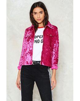 Pink Crush Velvet Jacket Pink Crush Velvet Jacket