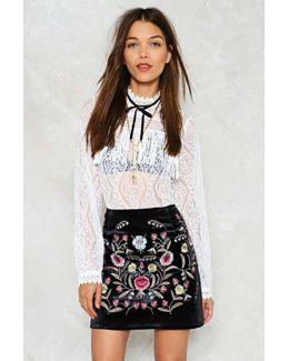 Enough Thread Velvet Skirt Enough Thread Velvet Skirt