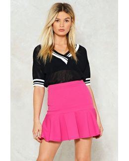 Flip Em' Off Ruffle Mini Skirt Flip Em' Off Ruffle Mini Skirt