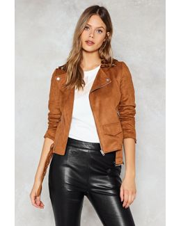 Tan Suede Jacket With Leopard Collar Tan Suede Jacket With Leopard Collar