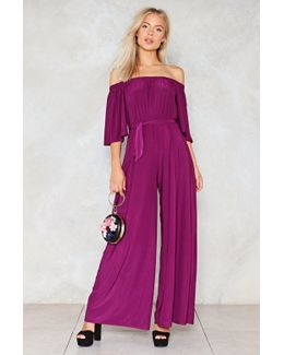 On A Night Like This Off-the-shoulder Jumpsuit On A Night Like This Off-the-shoulder Jumpsuit