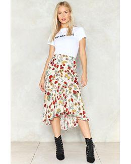 More Flower To Ya' Midi Skirt More Flower To Ya' Midi Skirt