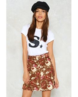 Floral Cord Mini Skirt Floral Cord Mini Skirt
