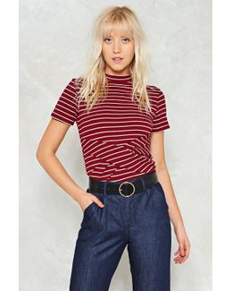 Knot Even Close Babe Striped Top Knot Even Close Babe Striped Top