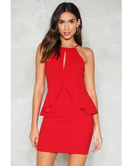 Baby Be Mine Peplum Dress Baby Be Mine Peplum Dress