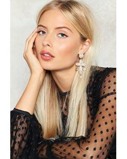 Double Cross Diamante Earrings Double Cross Diamante Earrings