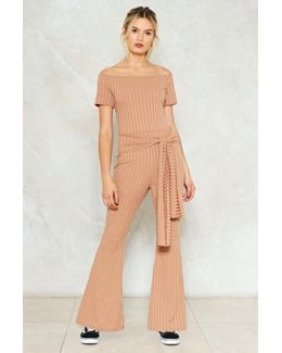 Tie Something New Ribbed Jumpsuit Tie Something New Ribbed Jumpsuit