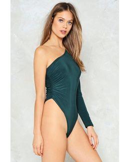 One Shoulder Ruched Bodysuit One Shoulder Ruched Bodysuit
