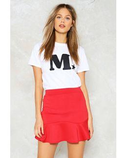 Flare Hem Mini Skirt Flare Hem Mini Skirt