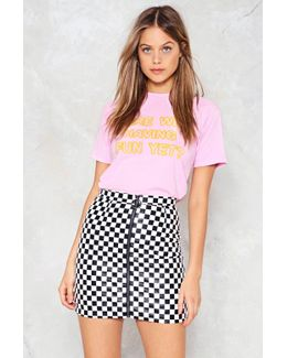 A Night On The Tiles Checkerboard Skirt A Night On The Tiles Checkerboard Skirt
