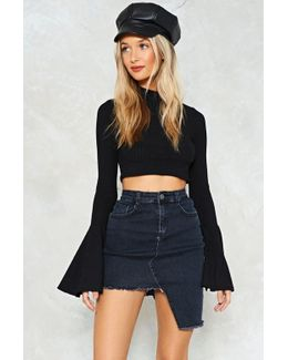 Asymetric Denim Skirt Asymetric Denim Skirt