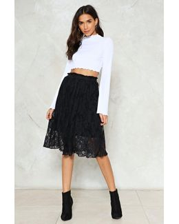 In The Still Of The Night Lace Skirt In The Still Of The Night Lace Skirt