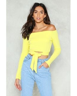 Knot Havin' Any Of It Off-the-shoulder Crop Top Knot Havin' Any Of It Off-the-shoulder Crop Top
