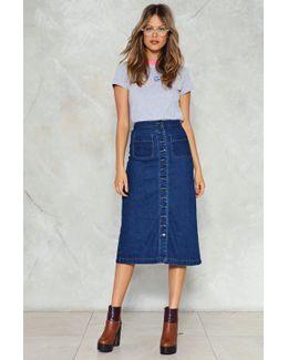 Button Down Midi Denim Skirt Button Down Midi Denim Skirt