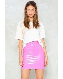 Vinyl Mini Skirt Vinyl Mini Skirt