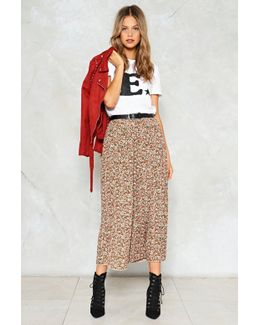 One Moment Pleat Floral Skirt One Moment Pleat Floral Skirt