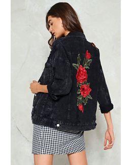 The Flower Of Love Denim Jacket The Flower Of Love Denim Jacket