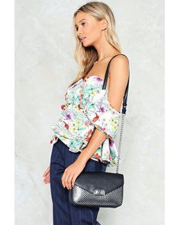 Want Metallic Weave Detail Cross Body Bag Want Metallic Weave Detail Cross Body Bag