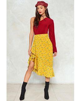 Floral Ruffle Midi Skirt Floral Ruffle Midi Skirt
