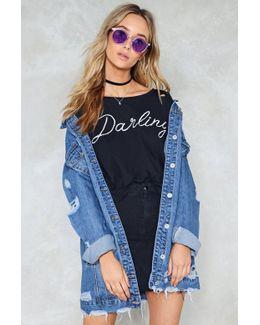 Oversized Distressed Denim Jacket Oversized Distressed Denim Jacket