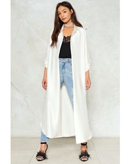Come A Long Way Satin Duster Jacket Come A Long Way Satin Duster Jacket