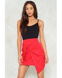 Bow Front Asymmetric Mini Skirt Bow Front Asymmetric Mini Skirt