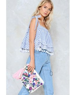 Is It In My Thread Floral Cross-body Bag