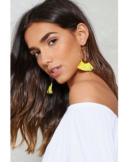 Tassel Hoop Earrings Tassel Hoop Earrings