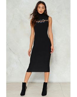 Lace-up Early Ribbed Dress Lace-up Early Ribbed Dress