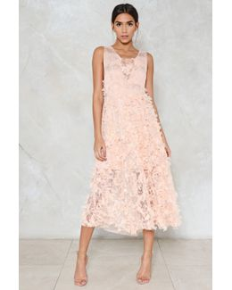 Coming Up Roses Midi Dress Coming Up Roses Midi Dress