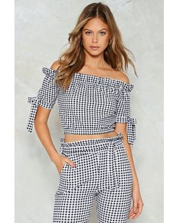 Tie A Little Harder Gingham Crop Top Tie A Little Harder Gingham Crop Top
