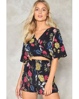 Walk Straight Down The Middle Floral Romper Walk Straight Down The Middle Floral Romper