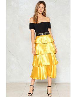 Get Glowing Metallic Skirt Get Glowing Metallic Skirt