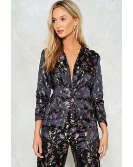 Blossom Of Your Love Satin Jacket Blossom Of Your Love Satin Jacket