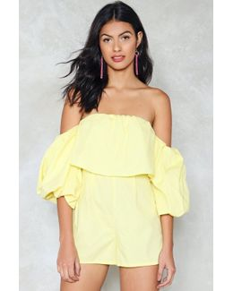 Ray Of Sunshine Off-the-shoulder Romper Ray Of Sunshine Off-the-shoulder Romper