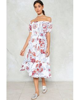 Button Our Way In Floral Dress Button Our Way In Floral Dress